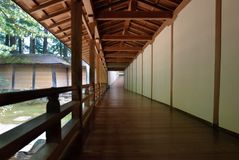 Corridoio del tempiale Fotografie Stock