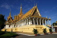 Corridoio del trono a Phnom Penh Fotografia Stock Libera da Diritti