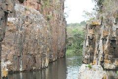 Corridoio dell'acqua della fauna selvatica del Sudafrica Fotografia Stock