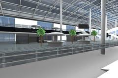 Corridoio dell'aeroporto Fotografia Stock Libera da Diritti