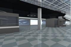 Corridoio dell'aeroporto Immagine Stock