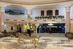 Corridoio dell'albergo di lusso Fotografie Stock Libere da Diritti