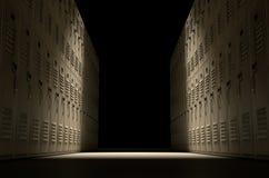 Corridoio dell'armadio della scuola Immagine Stock