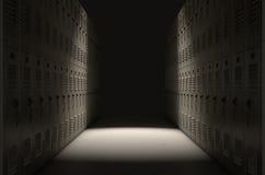 Corridoio dell'armadio della scuola Immagini Stock