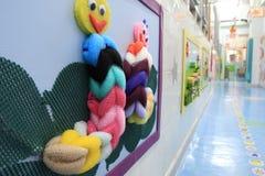 Corridoio dell'asilo Fotografie Stock