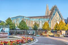 Corridoio dell'università ad Augustus Square in Lipsia Immagini Stock
