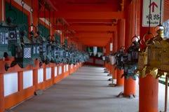 Corridoio della lanterna giapponese Immagine Stock