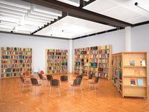 Corridoio della lettura illustrazione 3D Immagini Stock Libere da Diritti