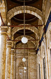 Corridoio della moschea Fotografie Stock