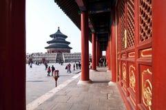 Corridoio della preghiera per i buoni raccolti al complesso del tempio del cielo Immagine Stock