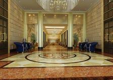 Corridoio della rappresentazione nell'hotel Immagine Stock