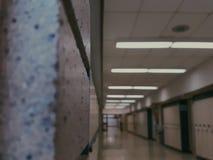 Corridoio della scuola Fotografia Stock