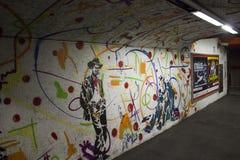 Corridoio della stazione della metropolitana di Roma Fotografie Stock Libere da Diritti