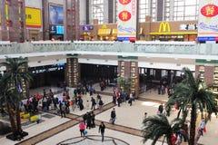 Corridoio della stazione ferroviaria di Pechino Immagine Stock Libera da Diritti