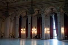 Corridoio dentro il palazzo del Parlamento Immagini Stock
