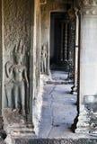 Corridoio di Angkor Wat Immagine Stock