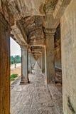 Corridoio di Angkor Wat Immagini Stock