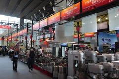 Corridoio di mostra di grandi macchine ed impianti Fotografia Stock