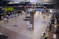 Corridoio di partenza dell'aeroporto internazionale di Vilnius Immagine Stock Libera da Diritti