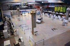 Corridoio 2 di partenza dell'aeroporto internazionale di Vilnius Fotografia Stock Libera da Diritti