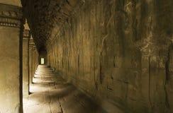 Corridoio esterno, tempio di Prohm di tum, Cambogia immagini stock libere da diritti