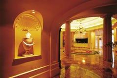 Corridoio di ricezione dell'albergo di lusso Fotografia Stock
