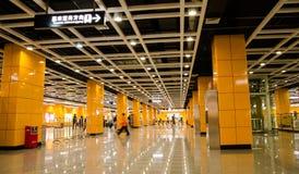 Corridoio di stazione del sud della stazione di Canton Immagine Stock