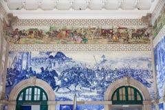 Corridoio di stazione ferroviaria di Oporto, Portogallo. fotografia stock libera da diritti