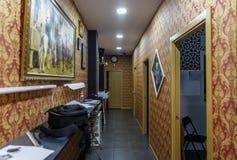 Corridoio di un posto in cui i tatuaggi sono fatti Fotografie Stock
