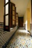 Corridoio di un riad tipico (pensione). Il Marocco Fotografia Stock