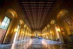Corridoio dorato Immagini Stock