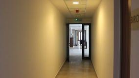Corridoio ed ufficio stock footage