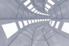 Corridoio futuristico di architettura del fondo Fotografie Stock Libere da Diritti