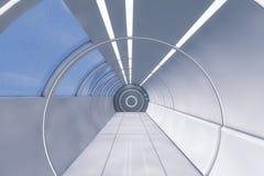 Corridoio futuristico di architettura del fondo Immagini Stock Libere da Diritti
