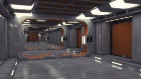 Corridoio futuristico di architettura del fondo Fotografia Stock