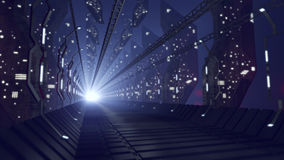Corridoio futuristico di fantascienza di vetro Immagine Stock Libera da Diritti