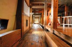 Corridoio giapponese del castello Fotografia Stock Libera da Diritti