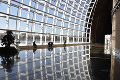 Corridoio grande nel Teatro dell'Opera del cittadino di Pechino Fotografie Stock