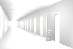 Corridoio infinito Fotografie Stock Libere da Diritti