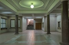 Corridoio intermedio nell'astuzia della stazione ferroviaria Fotografie Stock
