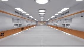 Corridoio interno futuristico royalty illustrazione gratis