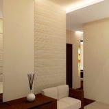 Corridoio interno moderno Fotografie Stock