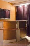 Corridoio interno in una proprietà privata Il corridoio visualizza il gusto fotografie stock libere da diritti
