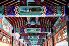 Corridoio lungo antico cinese Fotografie Stock