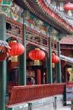 Corridoio lungo antico cinese Immagine Stock