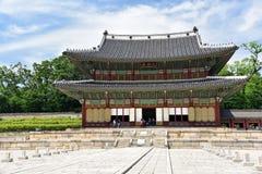 Corridoio maestoso del palazzo di Changdeokgung Fotografie Stock