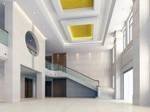 corridoio moderno 3d Fotografie Stock Libere da Diritti