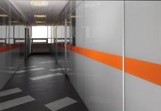 Corridoio moderno dell'ufficio Immagini Stock