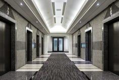 Corridoio moderno della costruzione Fotografie Stock Libere da Diritti