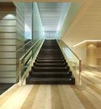 Corridoio moderno della scala Fotografia Stock Libera da Diritti